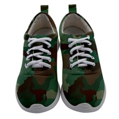 Forest Camo Pattern Women Athletic Shoes