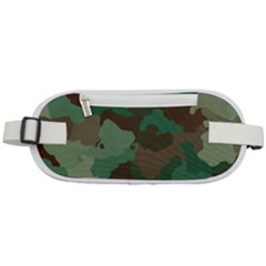 Forest Camo Pattern Rounded Waist Pouch