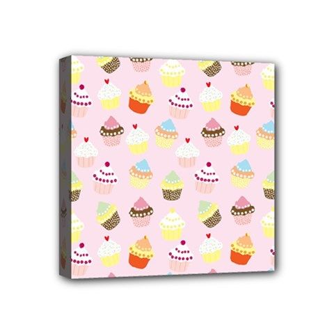 Cakes Pattern Mini Canvas 4  X 4  (stretched)
