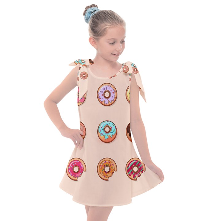 Donuts Kids  Tie Up Tunic Dress