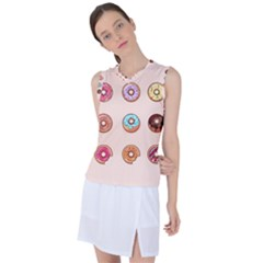 Donuts Women s Sleeveless Mesh Sports Top by goljakoff