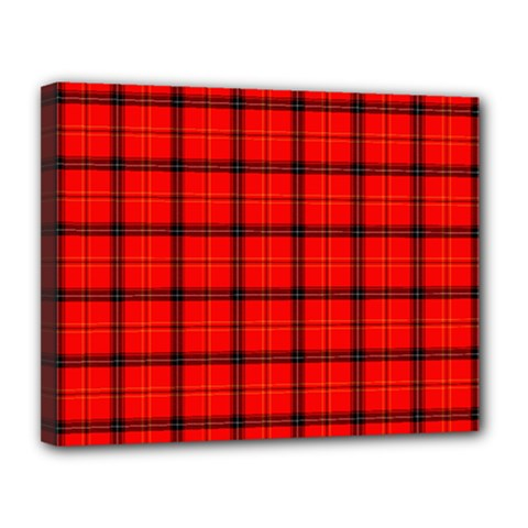 Red Buffalo Plaid Canvas 14  X 11  (stretched)