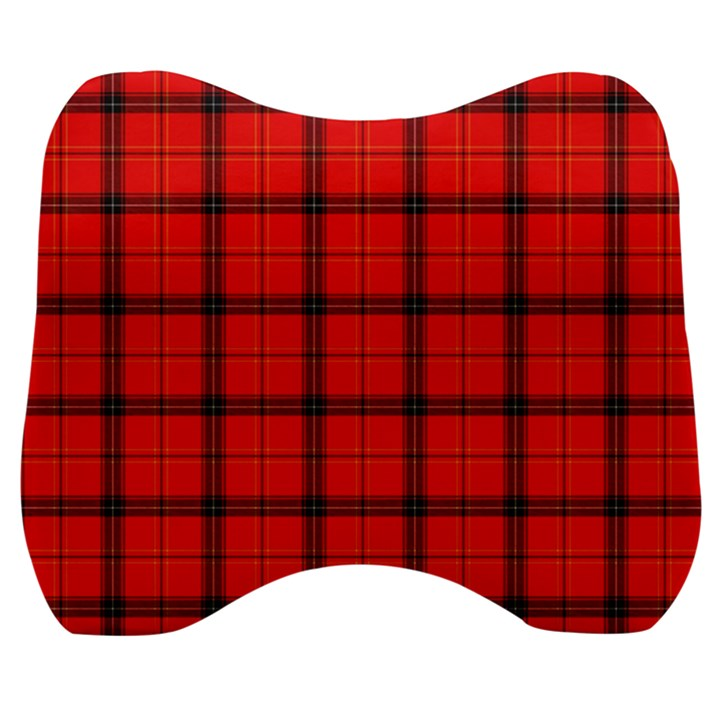 Red buffalo plaid Velour Head Support Cushion