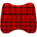 Red buffalo plaid Velour Head Support Cushion View2