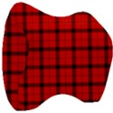 Red buffalo plaid Velour Head Support Cushion View3