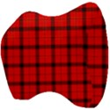 Red buffalo plaid Velour Head Support Cushion View4
