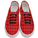 Red buffalo plaid Women s Classic Low Top Sneakers View1