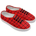 Red buffalo plaid Women s Classic Low Top Sneakers View3