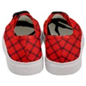 Red buffalo plaid Women s Classic Low Top Sneakers View4