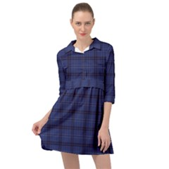 Blue Buffalo Plaid Mini Skater Shirt Dress