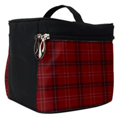 Red Buffalo Plaid Make Up Travel Bag (small) by goljakoff