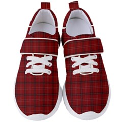 Red Buffalo Plaid Women s Velcro Strap Shoes by goljakoff