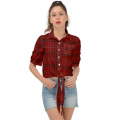 Red Buffalo Plaid Tie Front Shirt