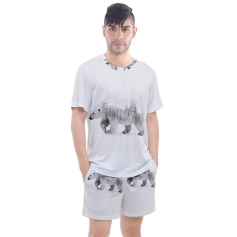 Arctic Bear Men s Mesh Tee And Shorts Set by goljakoff