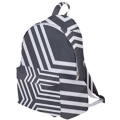Abstrait Lignes Blanc/gris The Plain Backpack