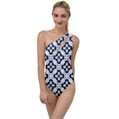 Abstrait Formes Bleu  To One Side Swimsuit by kcreatif