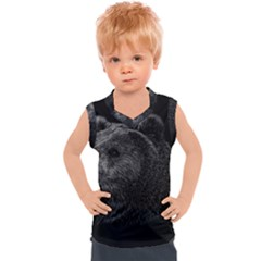 Bear Grizzly Kids  Mesh Tank Top