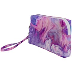 Purple Paint Wristlet Pouch Bag (small) by goljakoff