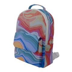 Colorful Agate Flap Pocket Backpack (large)