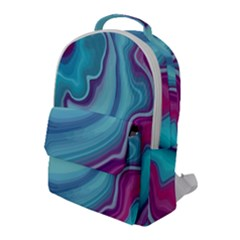 Blue And Puple Agate Flap Pocket Backpack (large)