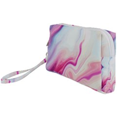 Rose Agate Slice Wristlet Pouch Bag (small) by goljakoff