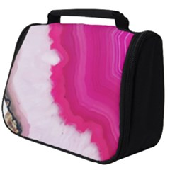 Pink Agate Slice Full Print Travel Pouch (big) by goljakoff