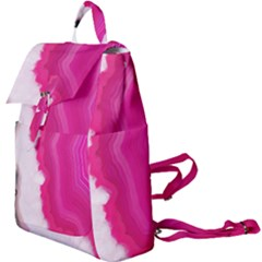 Pink Agate Slice Buckle Everyday Backpack by goljakoff