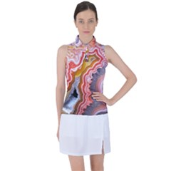 Abstract Agate Slice Women?¯s Sleeveless Polo Tee by goljakoff