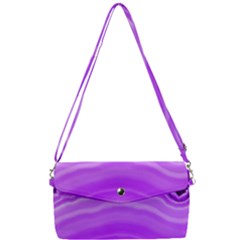 Purple Agate Slice Removable Strap Clutch Bag
