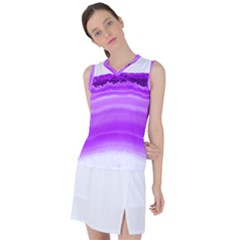 Purple Agate Slice Women s Sleeveless Mesh Sports Top