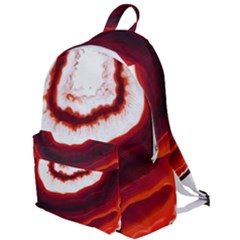 Red Agate Slice The Plain Backpack