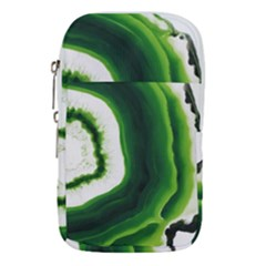 Green Agate Slice Waist Pouch (small)