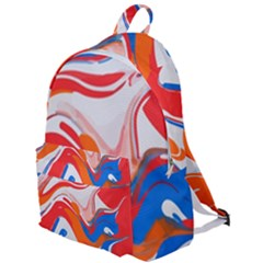 Abstract Red And Blue Paint The Plain Backpack