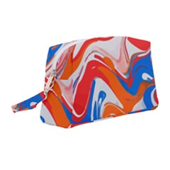 Abstract Red And Blue Paint Wristlet Pouch Bag (medium)