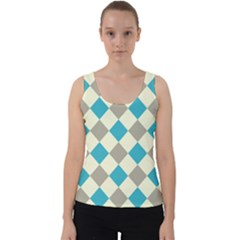 Background Graphic Wallpaper Stylized Colorful Fun Geometric Design Decor Velvet Tank Top