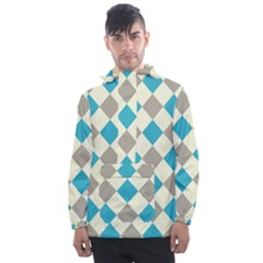 Background Graphic Wallpaper Stylized Colorful Fun Geometric Design Decor Men s Front Pocket Pullover Windbreaker