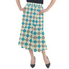 Background Graphic Wallpaper Stylized Colorful Fun Geometric Design Decor Midi Mermaid Skirt