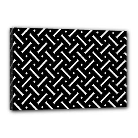 Geometric Pattern Design Repeating Eamless Shapes Canvas 18  X 12  (stretched)