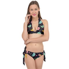 Birds Cute Pattern Background Tie It Up Bikini Set