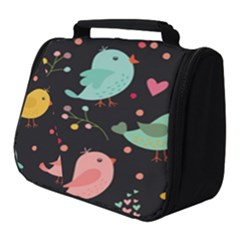Birds Cute Pattern Background Full Print Travel Pouch (small)