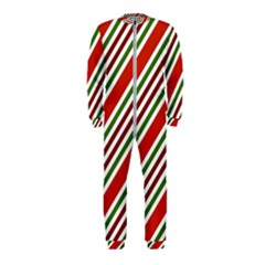 Christmas Color Stripes Onepiece Jumpsuit (kids) by Vaneshart