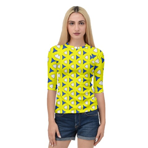 Pattern Yellow Pattern Texture Seamless Modern Colorful Repeat Quarter Sleeve Raglan Tee by Vaneshart
