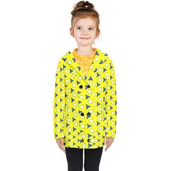 Pattern Yellow Pattern Texture Seamless Modern Colorful Repeat Kids  Double Breasted Button Coat by Vaneshart