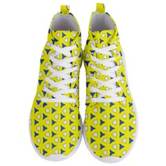 Pattern Yellow Pattern Texture Seamless Modern Colorful Repeat Men s Lightweight High Top Sneakers
