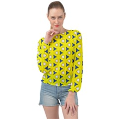 Pattern Yellow Pattern Texture Seamless Modern Colorful Repeat Banded Bottom Chiffon Top