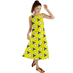 Pattern Yellow Pattern Texture Seamless Modern Colorful Repeat Summer Maxi Dress