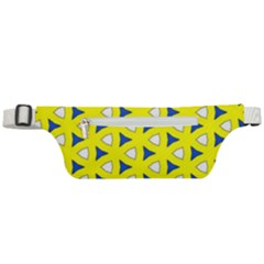 Pattern Yellow Pattern Texture Seamless Modern Colorful Repeat Active Waist Bag