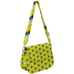 Pattern Yellow Pattern Texture Seamless Modern Colorful Repeat Saddle Handbag by Vaneshart