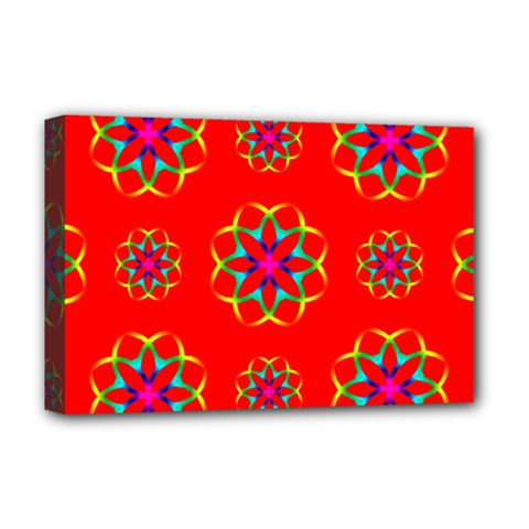 Geometric Design Decor Decorative Repeating Pattern Seamless Deluxe Canvas 18  X 12  (stretched) by Vaneshart