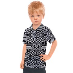 Grid Pattern Backdrop Seamless Design Geometric Patterns Line Kids  Polo Tee